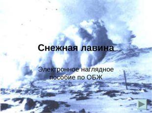 Снежная лавина Электронное наглядное пособие по ОБЖ