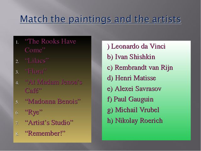 """The Rooks Have Come"" ""Lilacs"" ""Flora"" ""At Madam Jenoa's Café"" ""Madonna Benoi..."