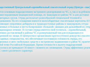 Государственный Центральный аэромобильный спасательный отряд (Центро- спас) я