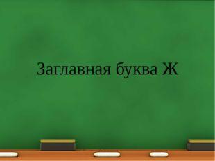 Заглавная буква Ж