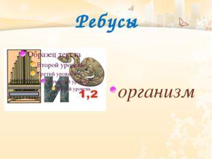Ребусы организм