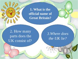 2. How many parts does the UK consist of? 1. What is the official name of Gre