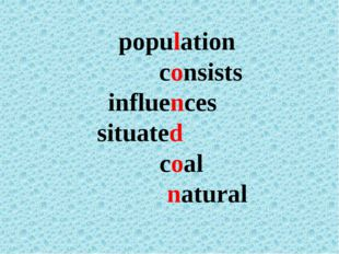 population consists influences situated coal natural