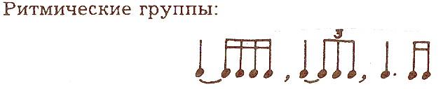 ритм залигованные ноты и нота с точкой 5 класс