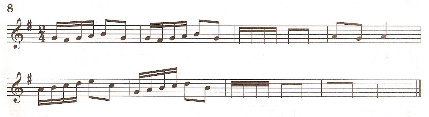 Лежнева досочинить мелодию 8