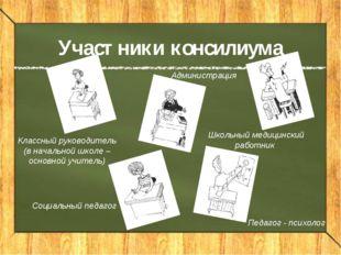 Участники консилиума Педагог - психолог Классный руководитель (в начальной шк