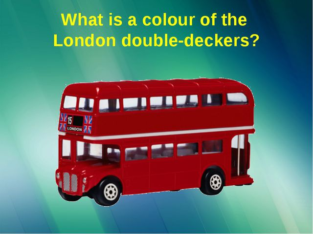 What is a colour of the London double-deckers?