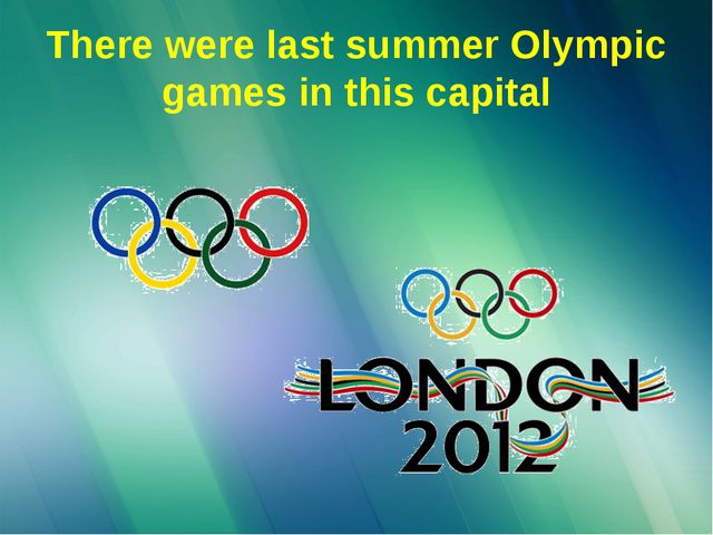 There were last summer Olympic games in this capital