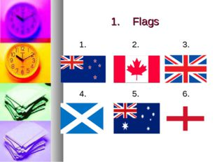 1.Flags 1.2.3. 4. 5.6.