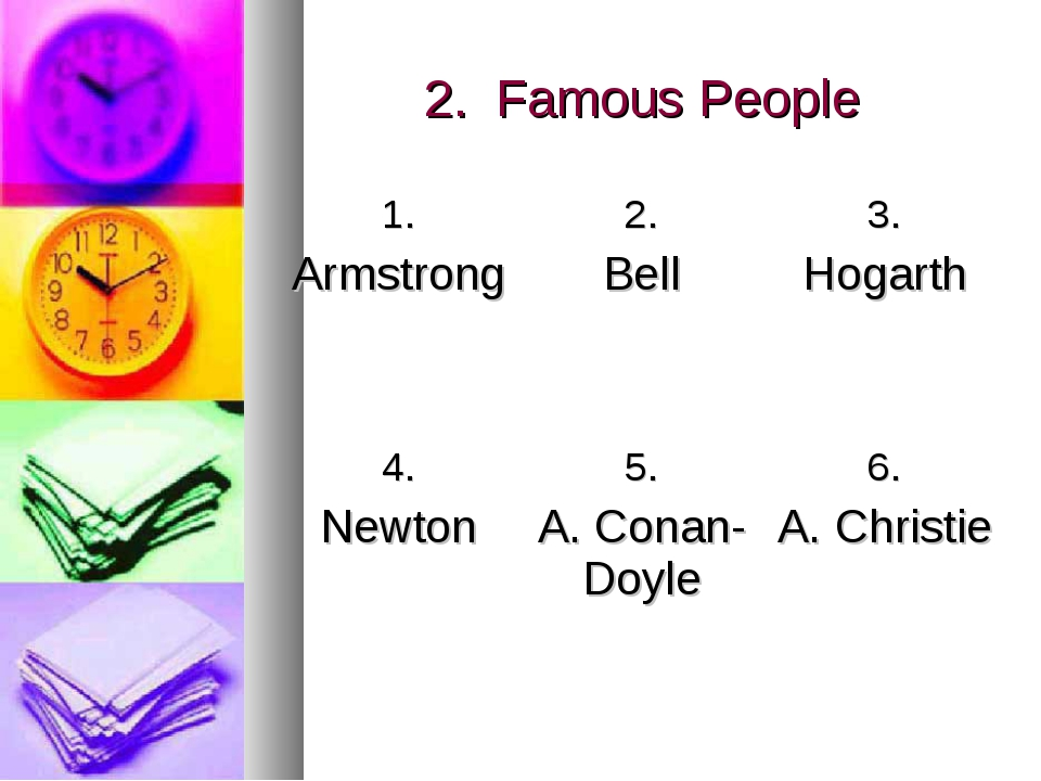 2. Famous People