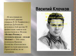 Василий Клочков 28 пехотинцев из стрелковой дивизии генерала И. В. Панфилова