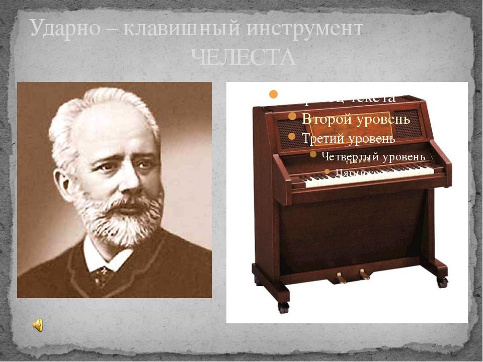 Ударно – клавишный инструмент ЧЕЛЕСТА