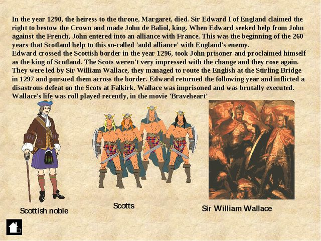In the year 1290, the heiress to the throne, Margaret, died. Sir Edward I of...