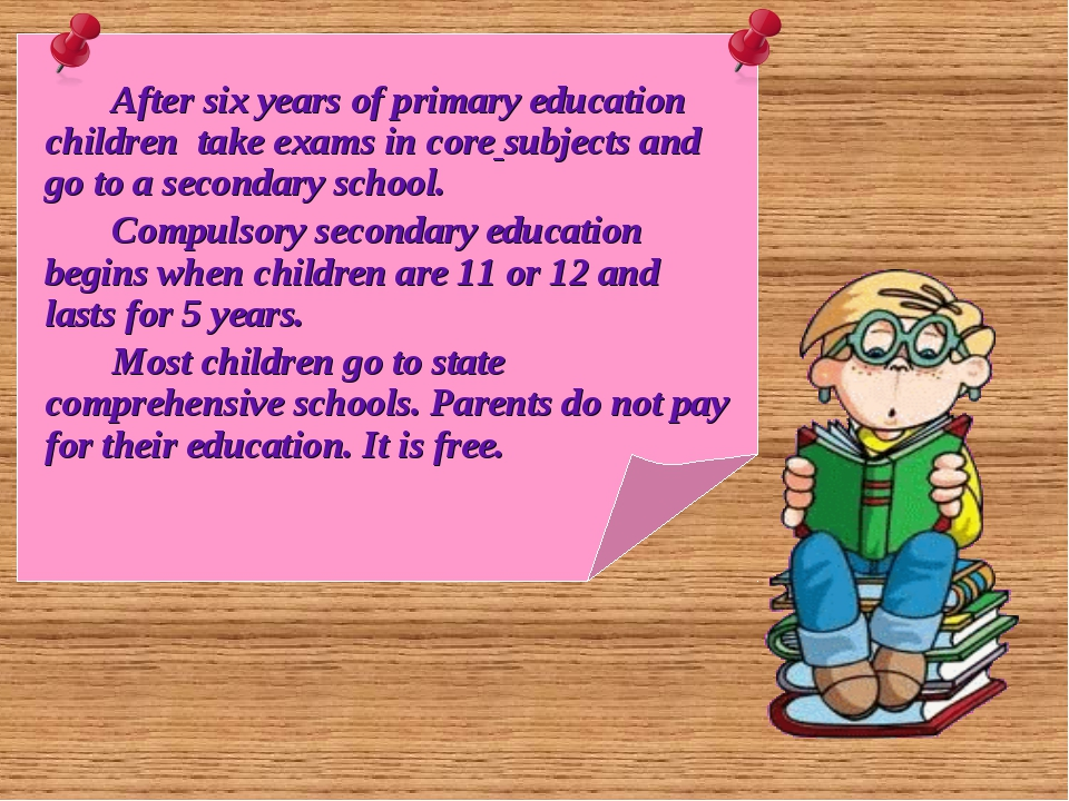 After six years of primary education children take exams in core subjects an...