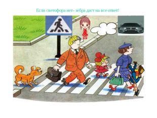 Если светофора нет- зебра даст на все ответ!