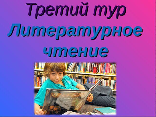 Третий тур Литературное чтение