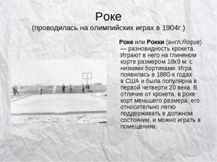 Роке (проводилась на олимпийских играх в 1904г.) РокеилиРокки(англ.Roque)