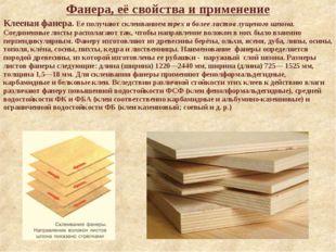 Фанера, её свойства и применение Клееная фанера. Ее получают склеиванием трех