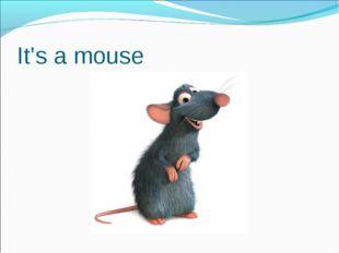 It's a mouse