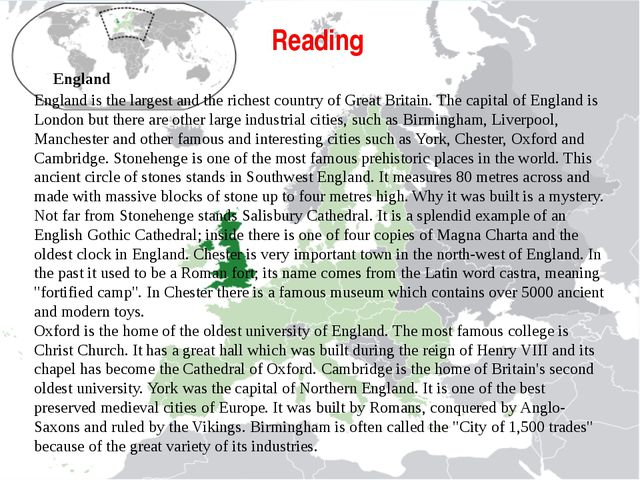 why england was the first country New england is a geographical region comprising six states of the northeastern united states: maine, vermont, new hampshire, massachusetts, rhode island, and connecticut.