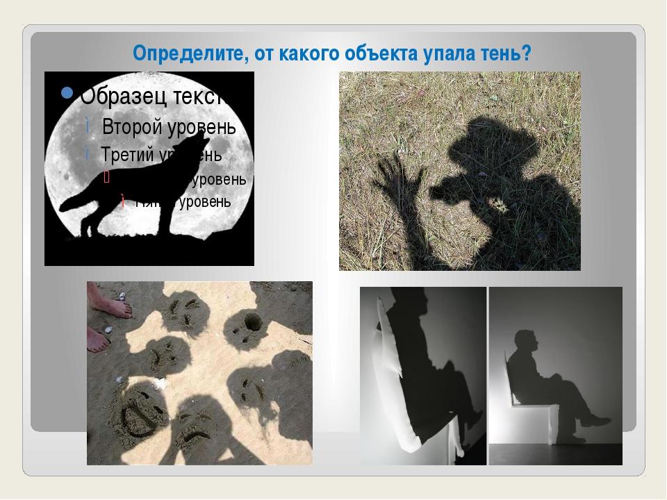 Определите, от какого объекта упала тень?