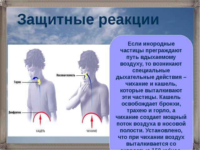 Если инородные частицы преграждают путь вдыхаемому воздуху, то возникают спец...