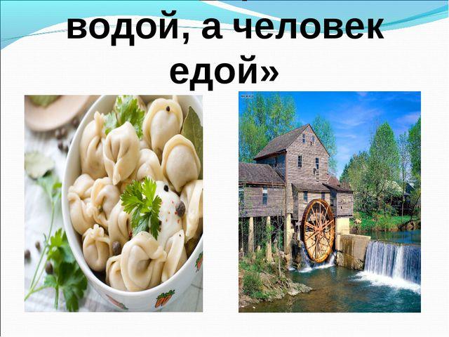 «Мельница живет водой, а человек едой»