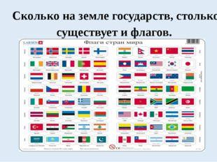 Сколько на земле государств, столько существует и флагов.