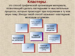 Кластеры - это способ графической организации материала, позволяющий сделать