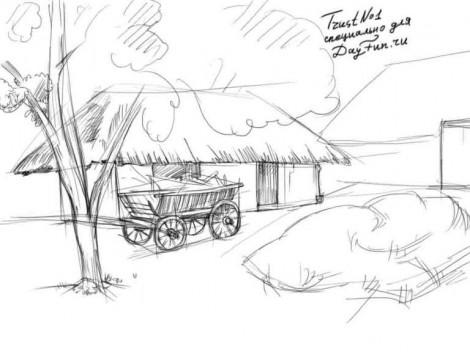 D:\2015-16 ОКУ ЖЫЛЫ\Сабак жоспарлары\Корнекилик\Как-нарисовать-деревню-карандашом-поэтапно-3-470x352.jpg