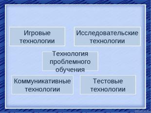 Технология проблемного обучения Игровые технологии Тестовые технологии Коммун