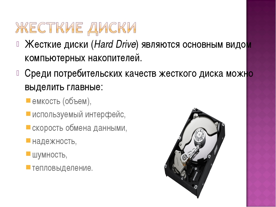 Жесткие диски (Hard Drive) являются основным видом компьютерных накопителей....