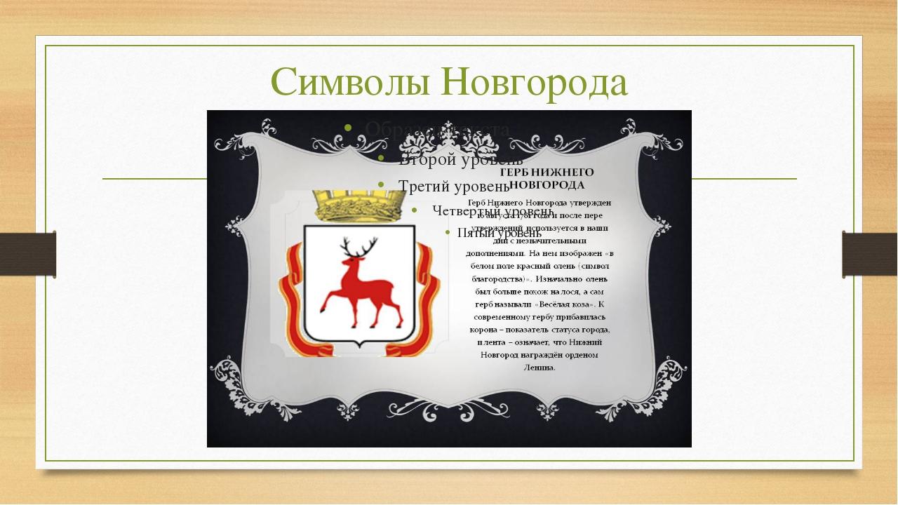 Символы Новгорода