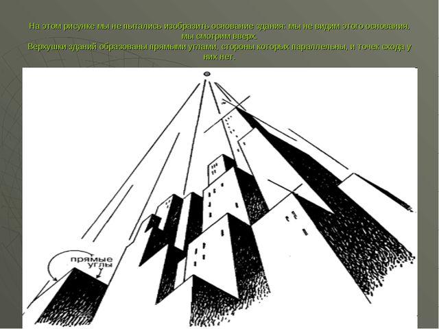 На этом рисунке мы не пытались изобразить основание здания: мы не видим этого...