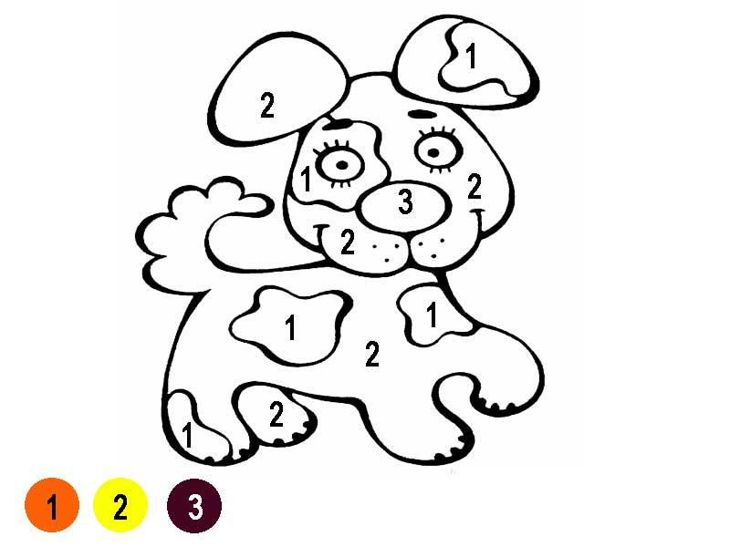 Раскраска по номерам для детей 3 лет