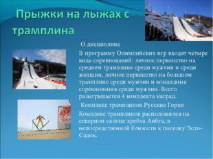 О дисциплине В программу Олимпийских игр входят четыре вида соревнований: ли