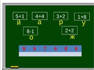 5+1 4+4 1+8 8-1 3+2 2+2 й а р у о ж 9 5 7 4 8 6