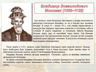 Сын великого князя Всеволода Ярославича и дочери византийского императора Ко