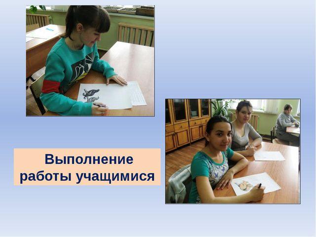 Выполнение работы учащимися