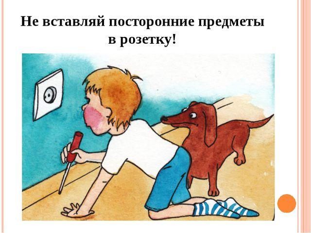Не вставляй посторонние предметы в розетку!