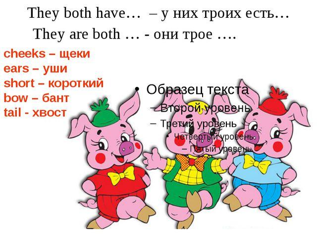 They both have… – у них троих есть… They are both … - они трое …. cheeks – ще...