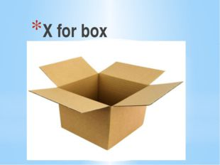 X for box
