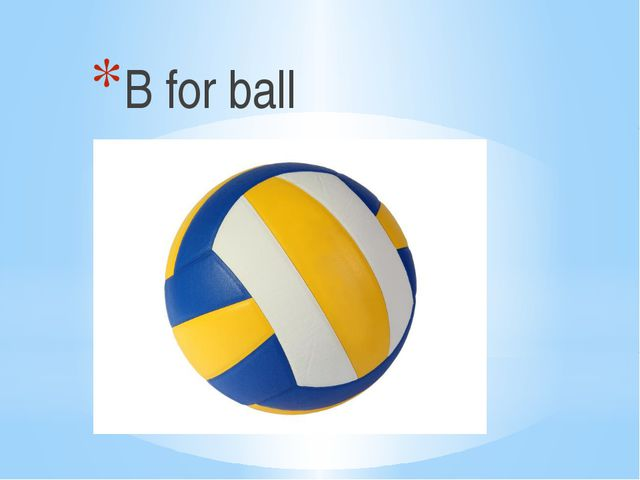 B for ball