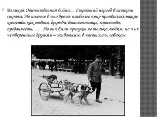 Великая Отечественная война… Страшный период в истории страны. Но именно в эт