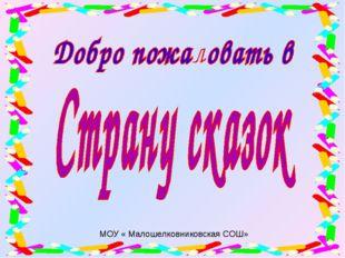 МОУ « Малошелковниковская СОШ»