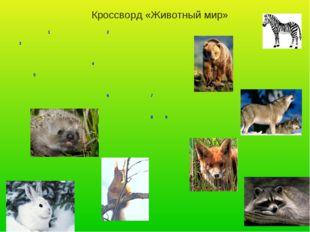 Кроссворд «Животный мир» 12 3  4 5  6