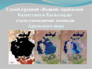 Самой крупной «Водной» проблемой Казахстана и Кызылорды стало уменьшение площ