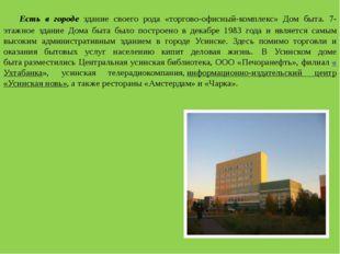 Есть в городе здание своего рода «торгово-офисный-комплекс» Дом быта. 7-эта