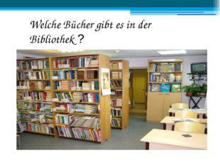 Welche Bücher gibt es in der Bibliothek ?