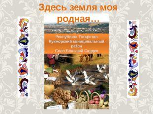 Республика Татарстан Кукморский муниципальный район Село Большой Сардек Здесь